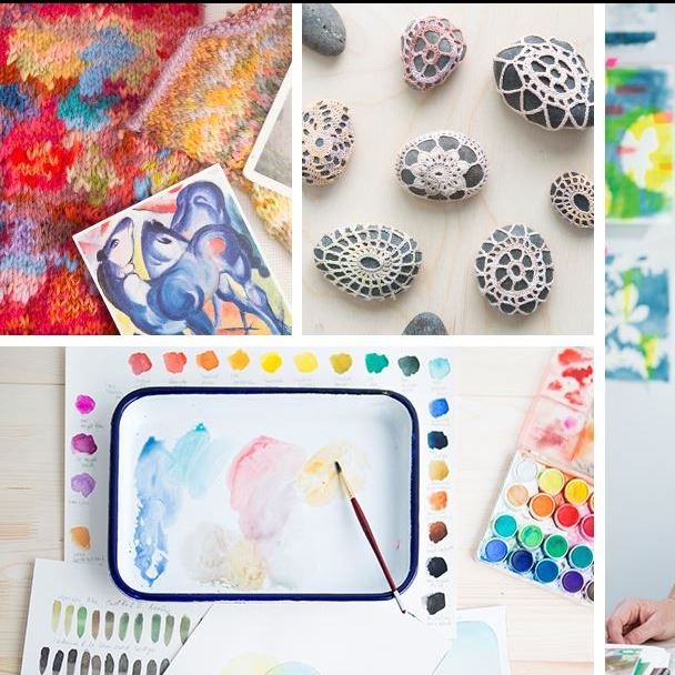Crafts and materials on white background (JPG)