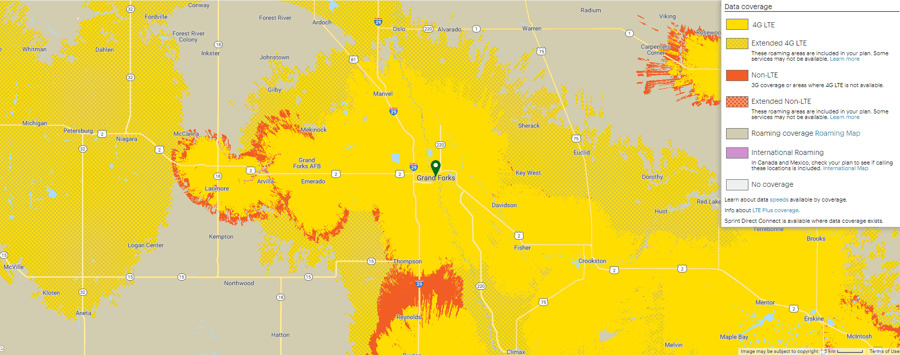 Sprint Data Coverage Map (PNG)
