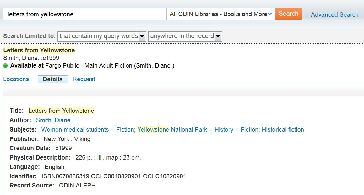 All Libraries Search Results