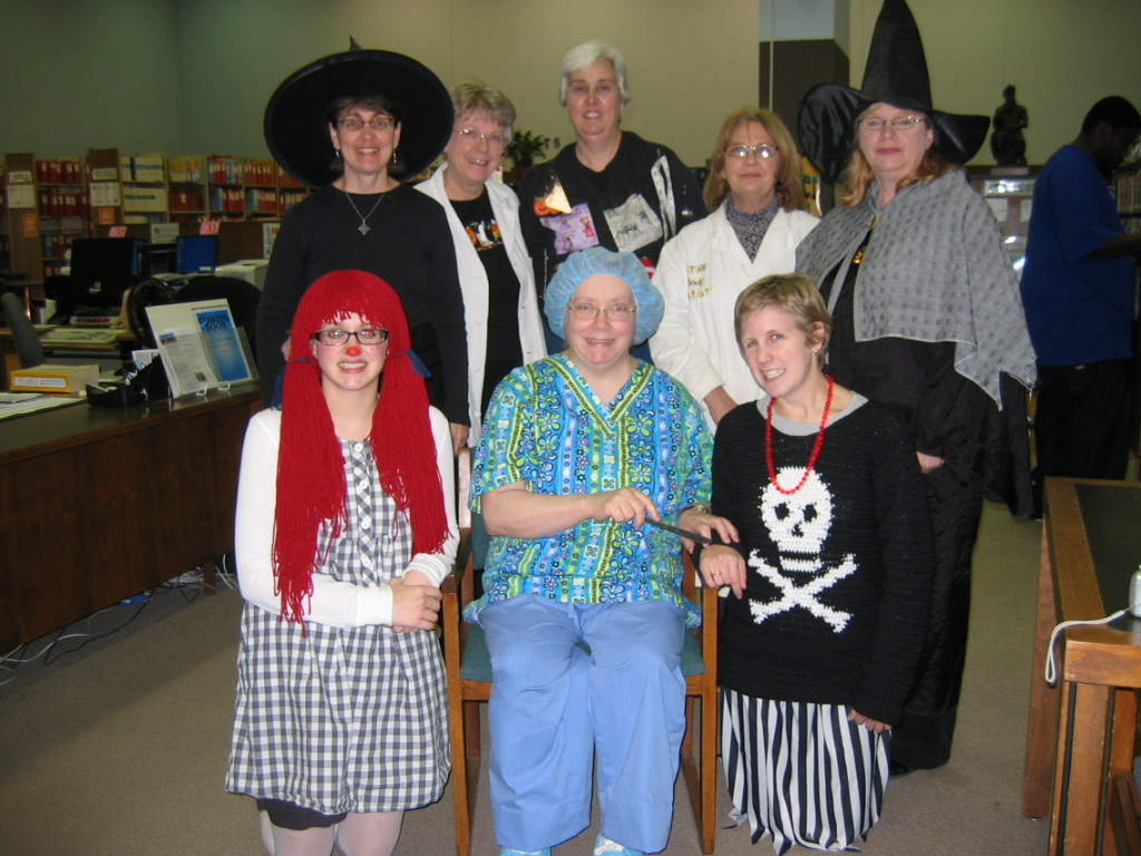 Library Staff in Costumes